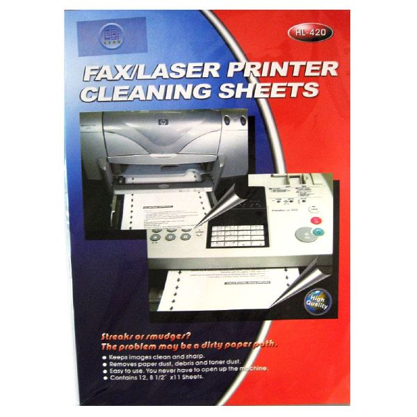 e-hl-420  fax  laser printer cleaning sheets