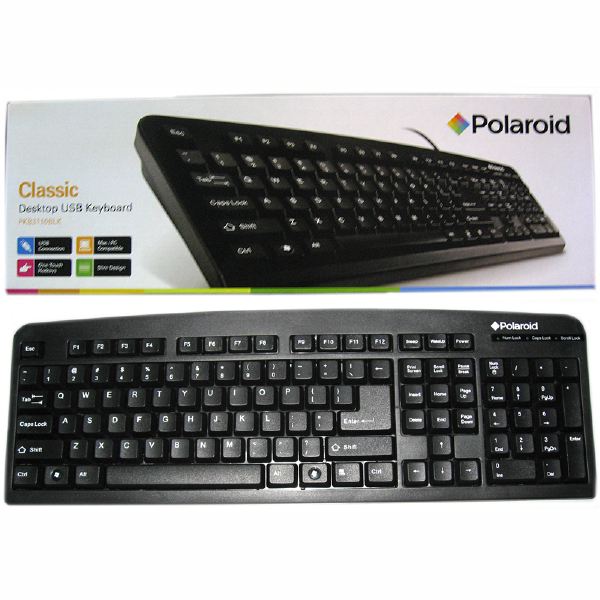 skn pkb3110 polaroid classic keyboard usb. Black Bedroom Furniture Sets. Home Design Ideas