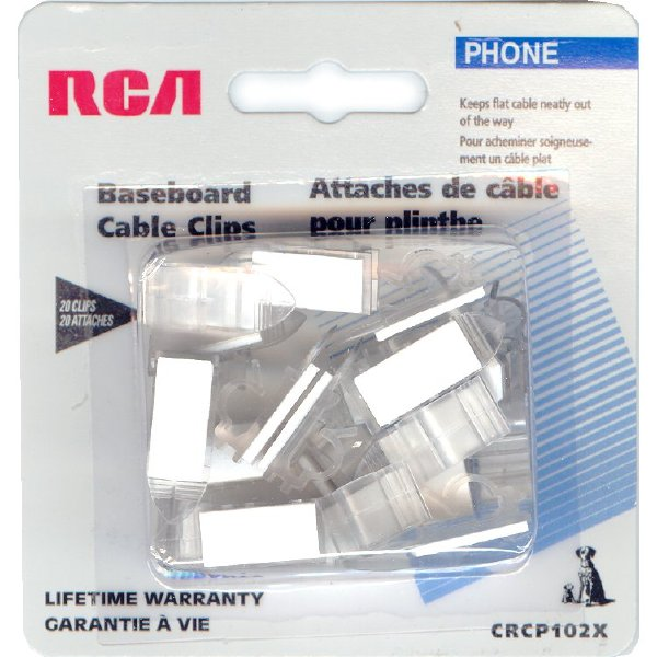 Z Crcp102x Baseboard Cable Clips White