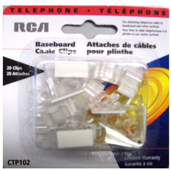 z ctp102 baseboard cable clips clear rca. Black Bedroom Furniture Sets. Home Design Ideas
