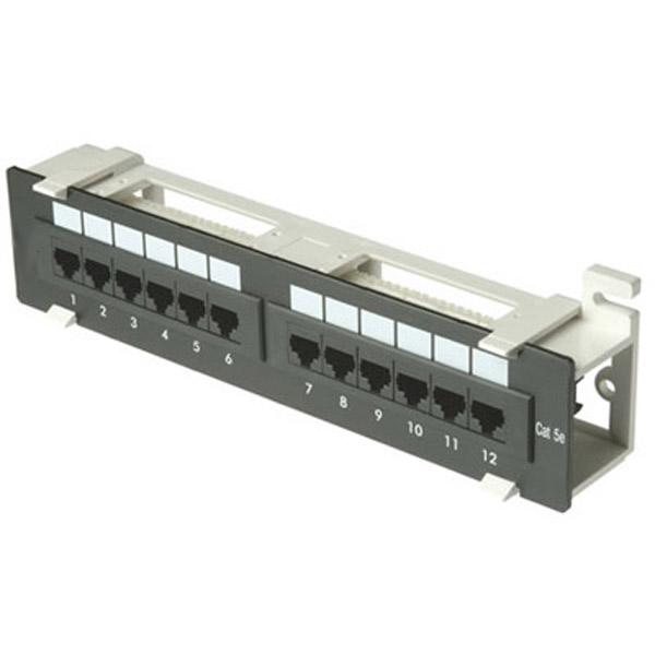 Zpp12-we  12 Port  1u  Patch Panel - Cat5e 110 T568a Or T568b