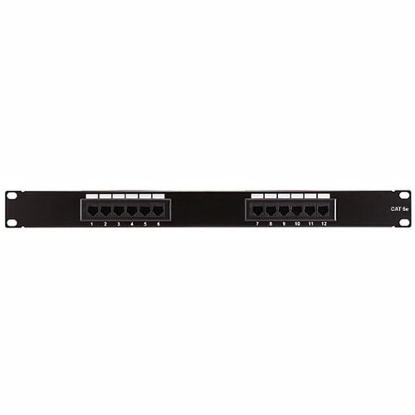ZPP12E 12 Port 1U Patch Panel CAT5e 110 T568A or T568B