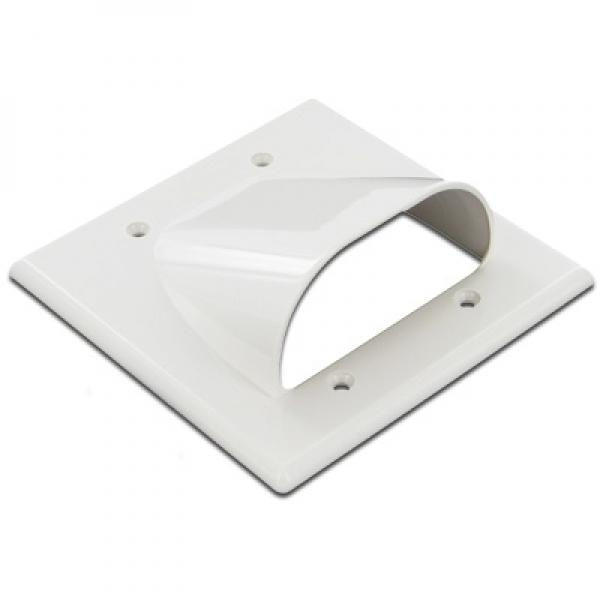 Wall Plate Cable Pass Through : Zwp pass w gang bulk cable through wall plate white