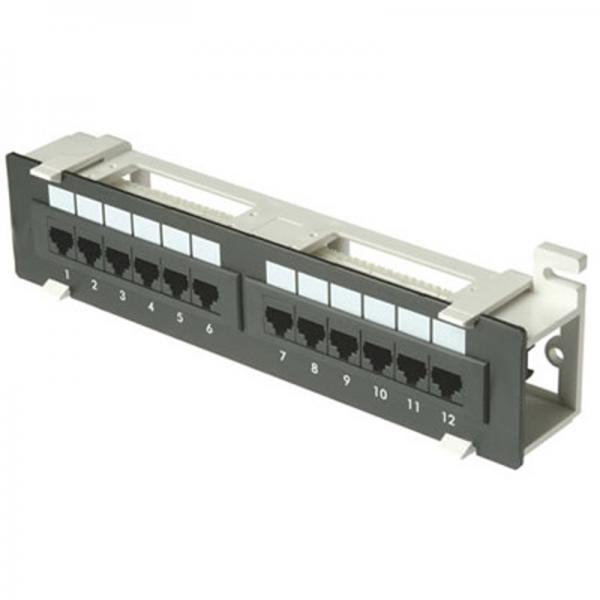 Zpp12-w-cat6  12 Port  1u  Patch Panel - Cat6 110 T568a Or T568b